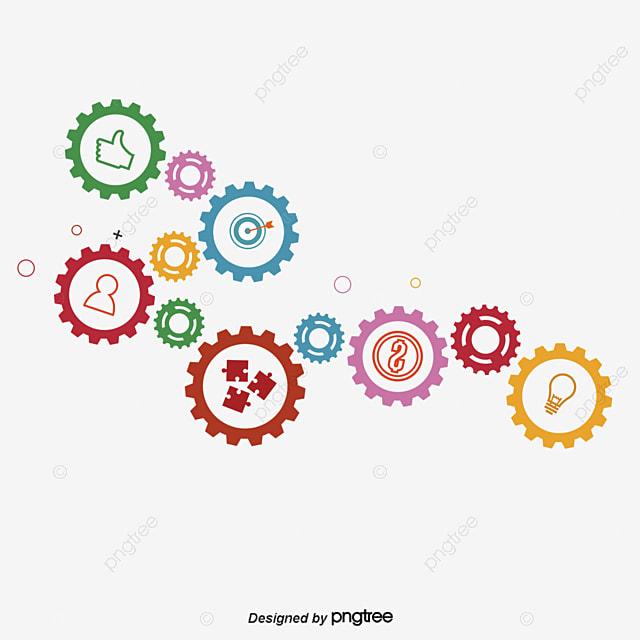 Color De Engranajes Color Tamaño Gear PNG Y Vector Para