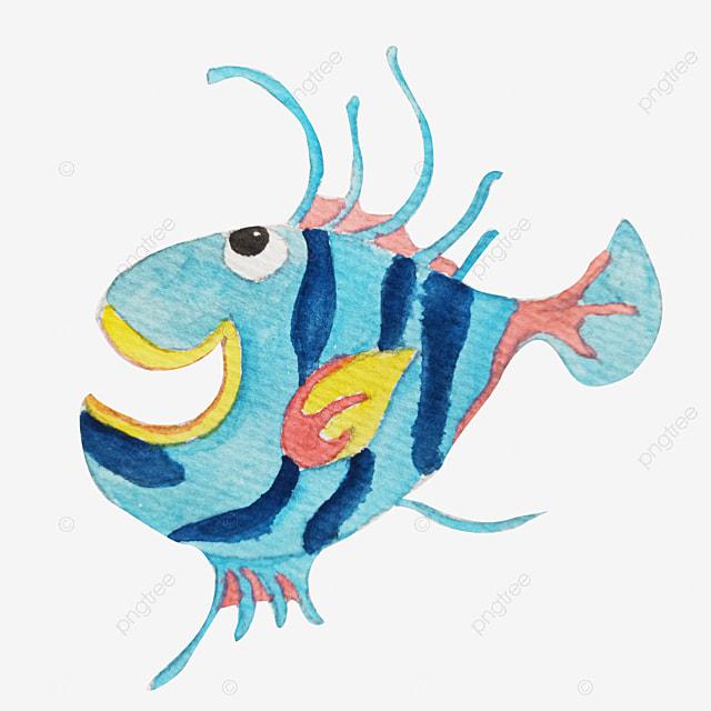 cute cartoon marine fish vector cartoon clipart fish clipart