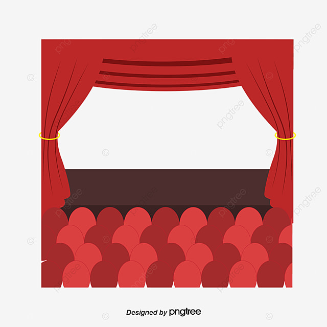 Rapport du bureau de th tre rideau rouge rouge salle de - Clipart cinema gratuit ...