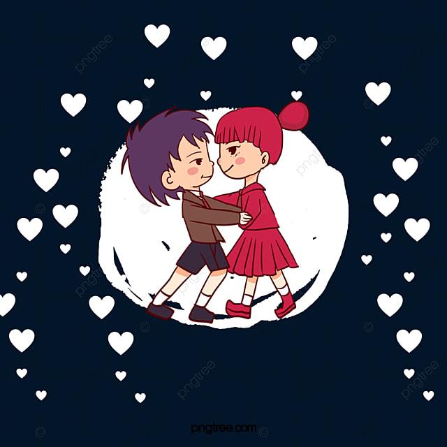 en mati u00e8re de vecteur de couple baiser mignon embrasser