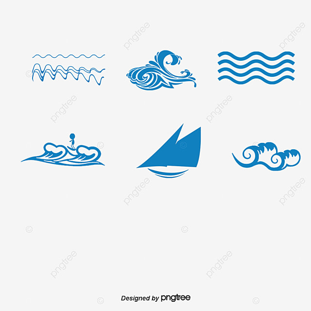 Line Art Vector Free Download : Vector wave free download waves png and