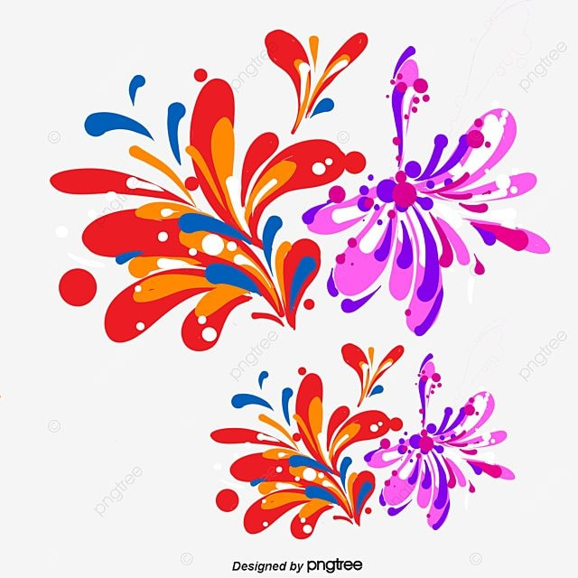 cartoon color splash vector material cartoon spray color png and rh pngtree com splash vector freepik splash vectoriel
