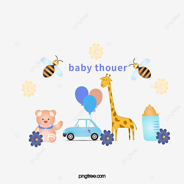 Excepcional Vector Cartoon Brinquedos Para Bebés, Festa De Chá De Bebê DOS  PJ69