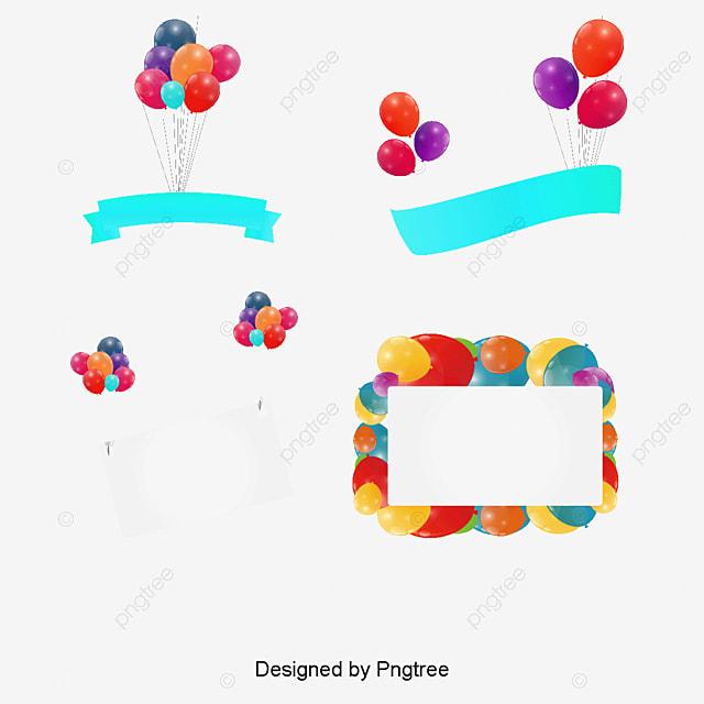 Birthday Banner, Material, Beautiful Balloon Material