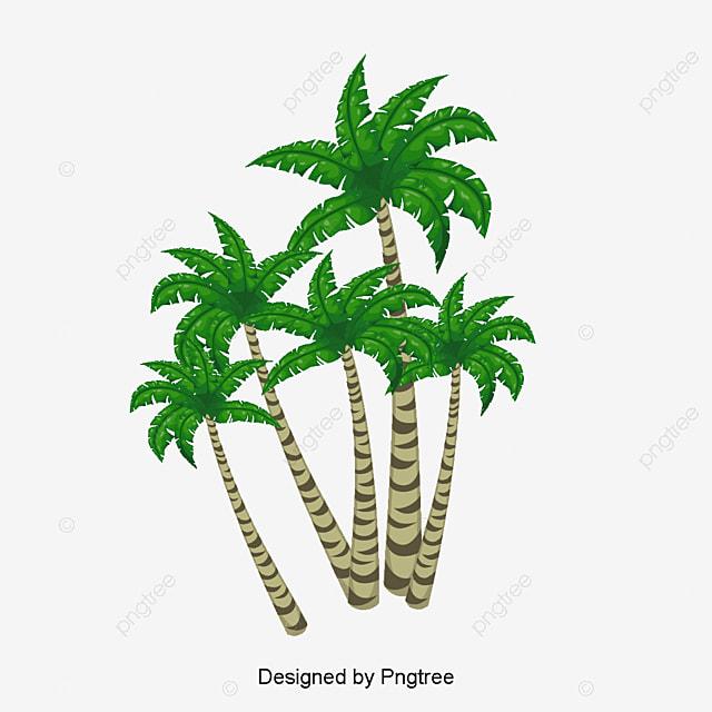 coconut tree vector material green plants tree clipart