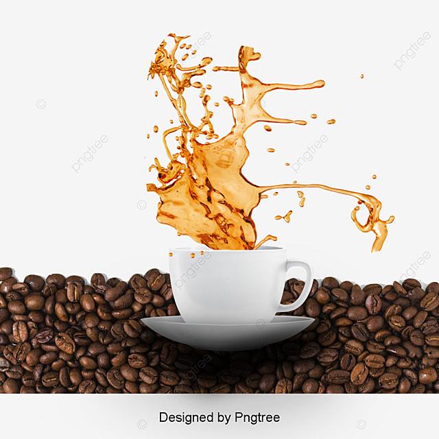 Coffee Splash Effect, Splash Clipart, Coffee, Cup PNG ...