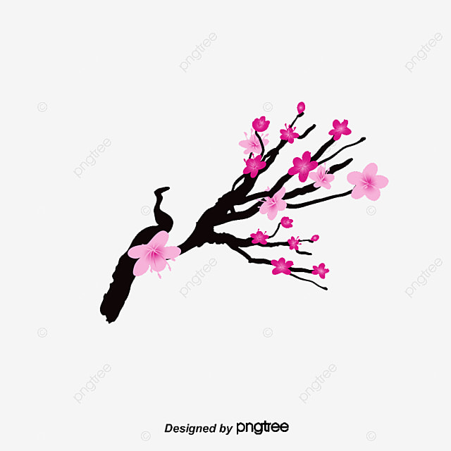 vector painted pink cherry blossoms vector hand painted pink rh pngtree com cherry blossom vector psd cherry blossom vector ai