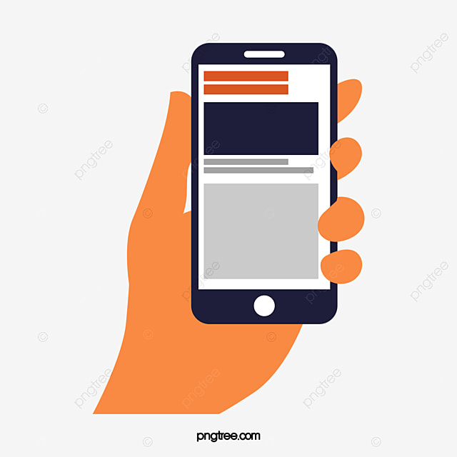 Vector Cartoon Material Business Holding A Mobile Phone