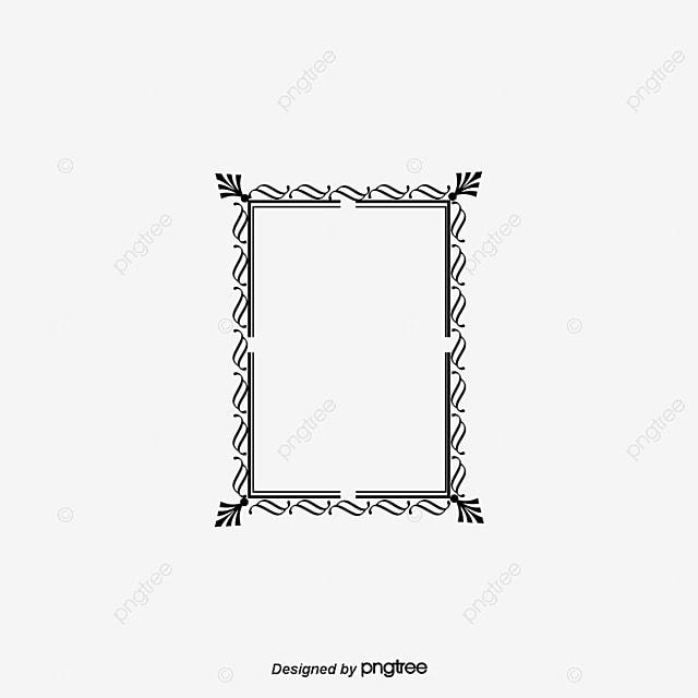 Borde Negro Tabular Frame Material Vector Frontera Vector Marco De ...
