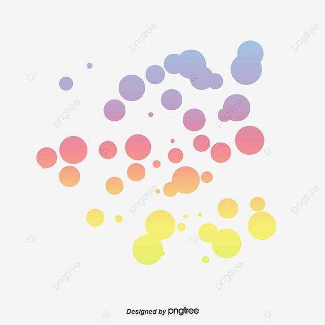 Circulos De Colores Colorido Frontera, Creative, Color, Círculos PNG ...