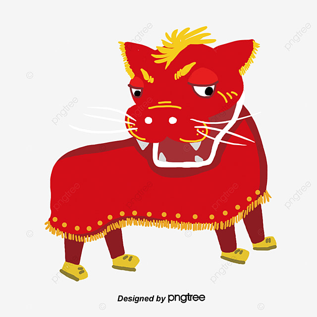Chinese new year lion dancing vector pattern stock vector.