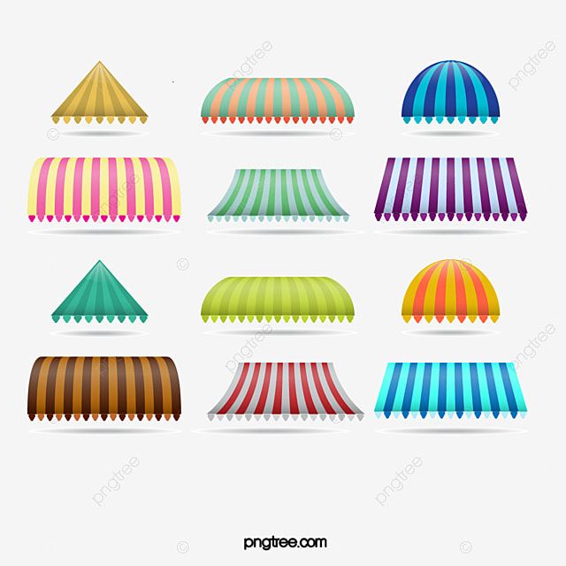 Striped Awnings Awning Stripe Color Png And Vector With