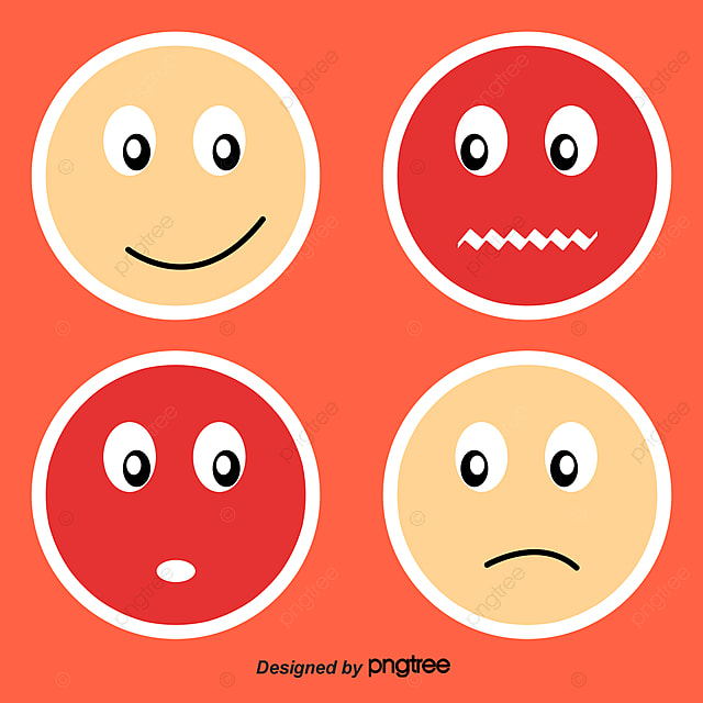 9 color face sticker expression dizziness smile png and vector
