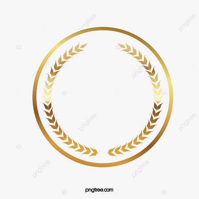 circular frame dourado uma moldura de ouro round edge