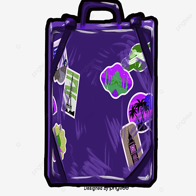 Cartoon suitcase cartoon travel suitcase png and vector - Dessin de valise ...