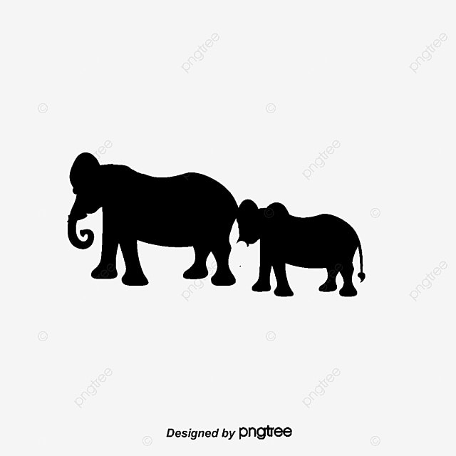 elephant silhouette free png and vector