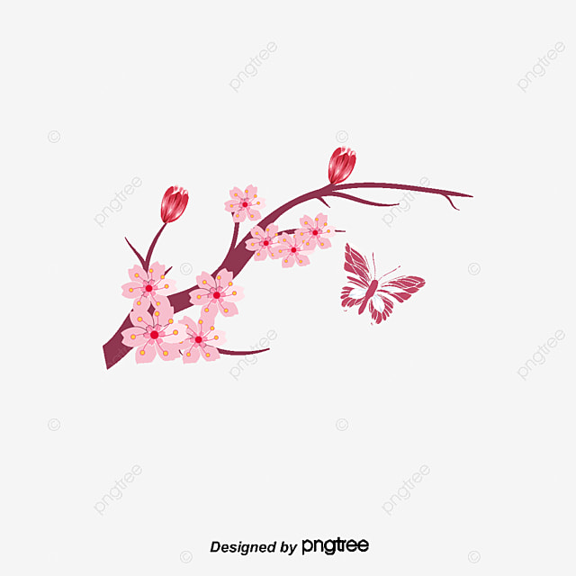 Vector Tree Branches Flowers Vector Flowers Vector Tree Branches