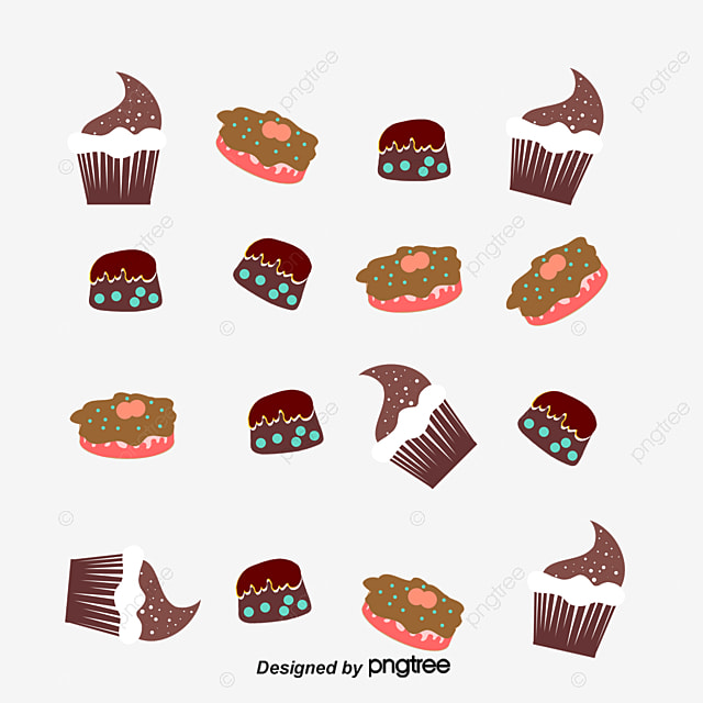 cute cake vector background food cake hand painted png