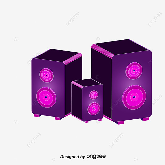 cool trend music background vector material speaker