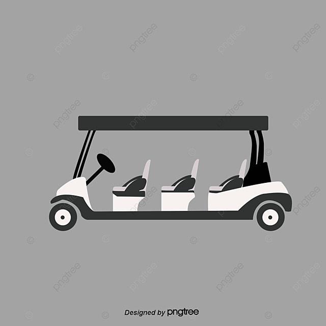 Vector Negro Carrito De Golf Vector Coche Black Golf Carros De Golf ...