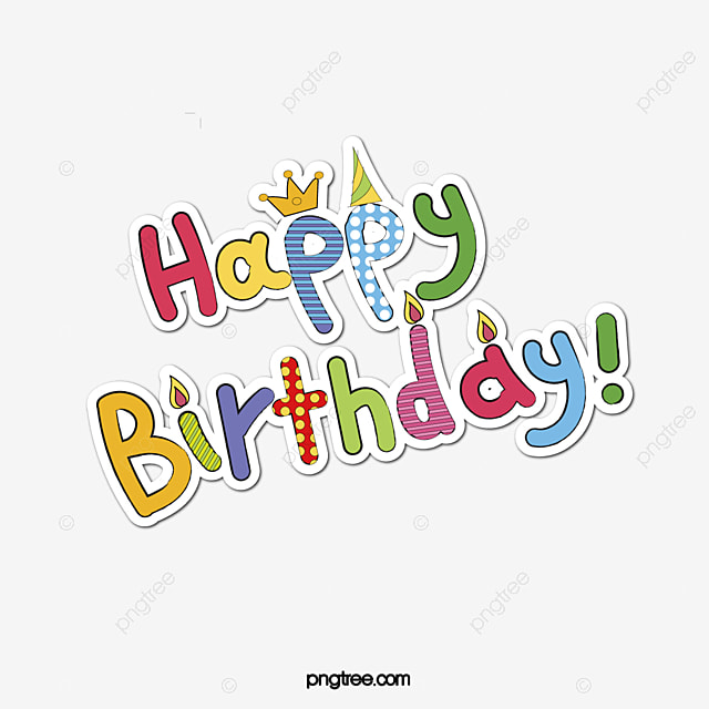 Happy Birthday Word Poster Promotional Material PNG