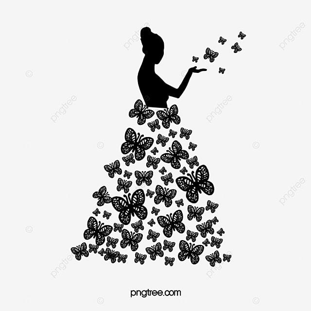 blanco y negro mariposa hermosa silueta blanco y negro