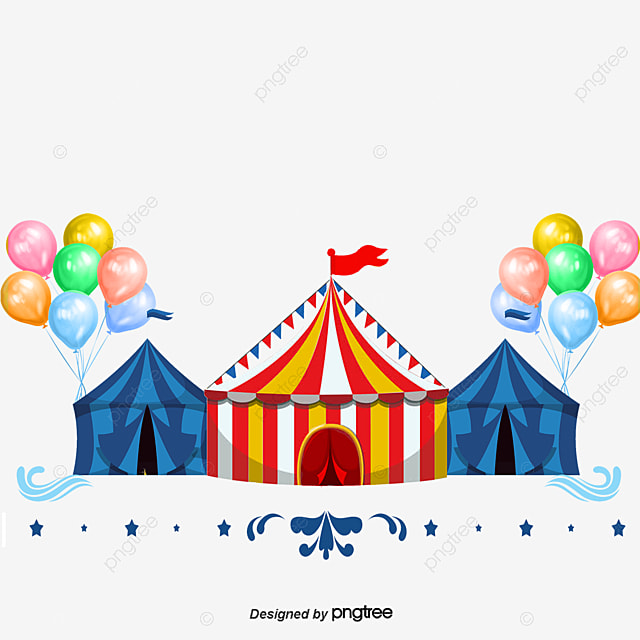 Circus Tents Balloon Posters Cartoon Promotional Material Balloon