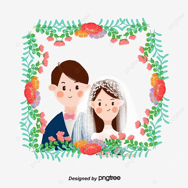 Wedding anniversary invitation card material cartoon characters wedding anniversary invitation card material cartoon characters couple flowers png and vector stopboris Image collections