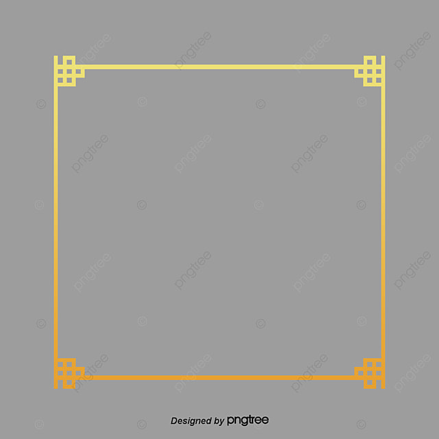 Vector Gold Chinese Style Decorative Frame Material Gold