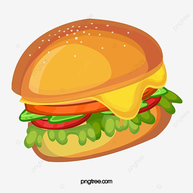 creative cartoon burger vector material cartoon creative