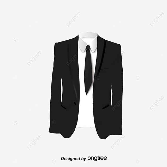formal attire template - black suit work photo template black vector clothes