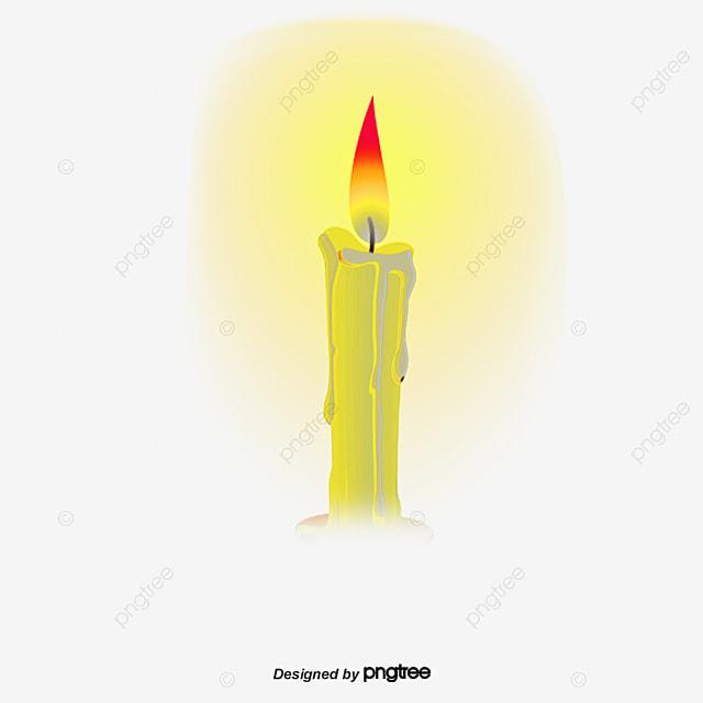 un mat u00e9riau vecteur jaune allum u00e9 des bougies une bougie d