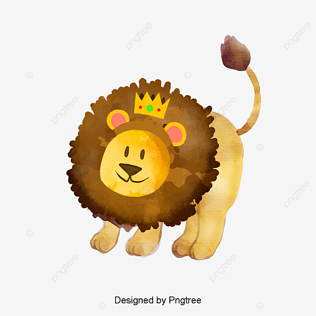vector lion material vector material lion cartoon material png and vector