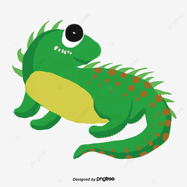 material de vetor de desenhos animados do camaleão vector de