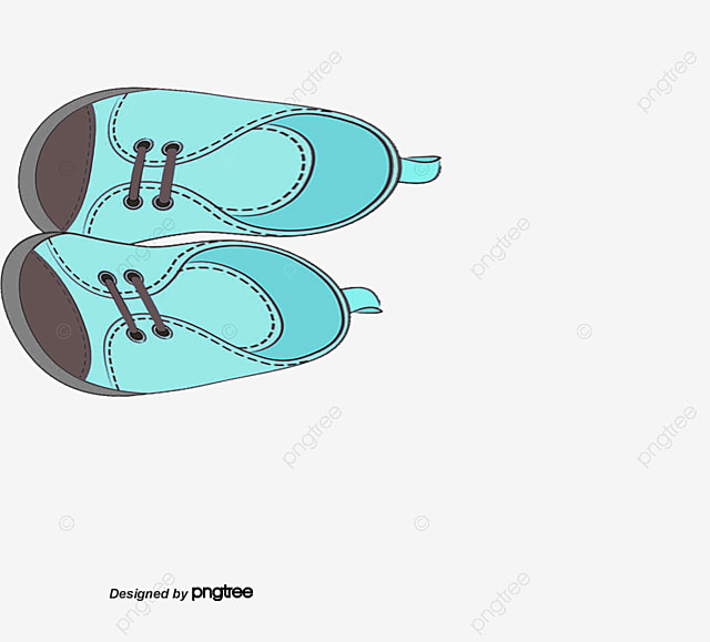 Zapatos De Bebé Azul Pintada A Mano Vector Zapatos De Bebe Pintado A ...