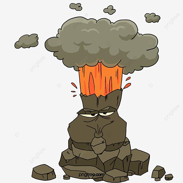 Le Volcan Dessin Jet L Anneau De Fumée Image Png Pour Le