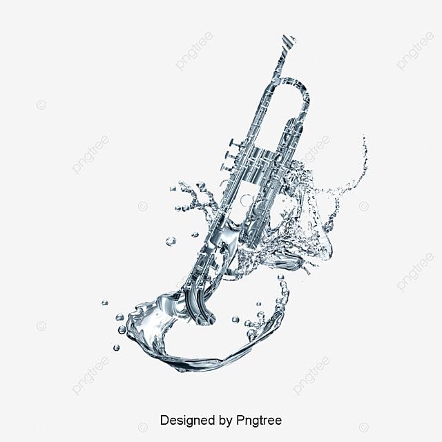 le saxophone de pulv u00e9risation de l eau instrument de musique fichier png et psd pour le