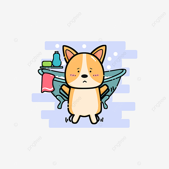 cute funny animals personnel bath dogs cute clipart dog funny png