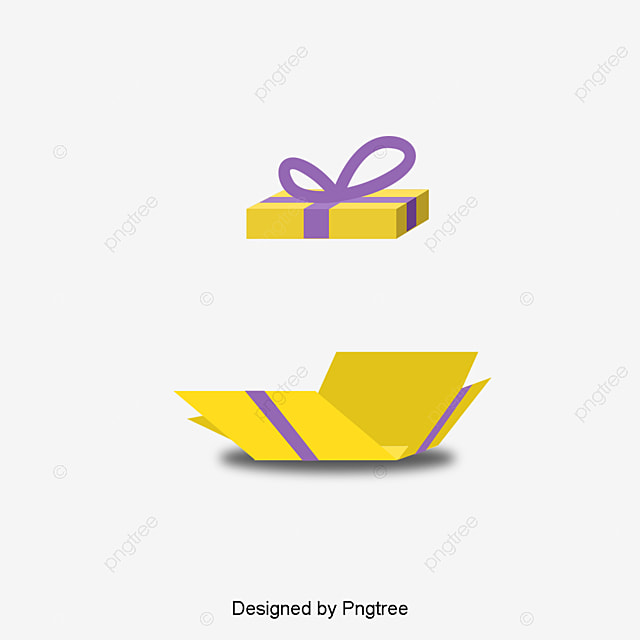 Free Download Open The Gift Box Poster PNG And PSD