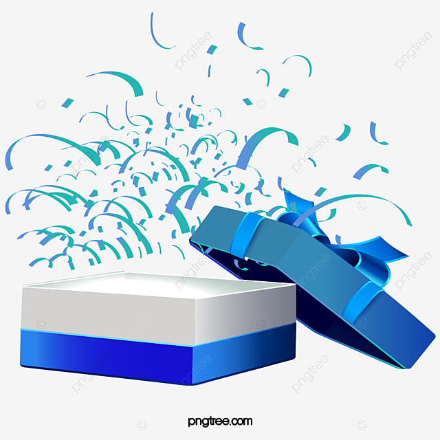 Open The Blue Gift Box Vector PNG Copyright Complaint Download Free