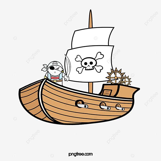 Bateau Pirate Animé Dessin Corsaire Simple Fichier Png Et