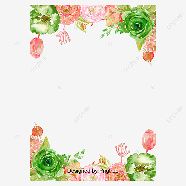Vector Hand Painted Flower Borders, Vector, Hand Painted ...
