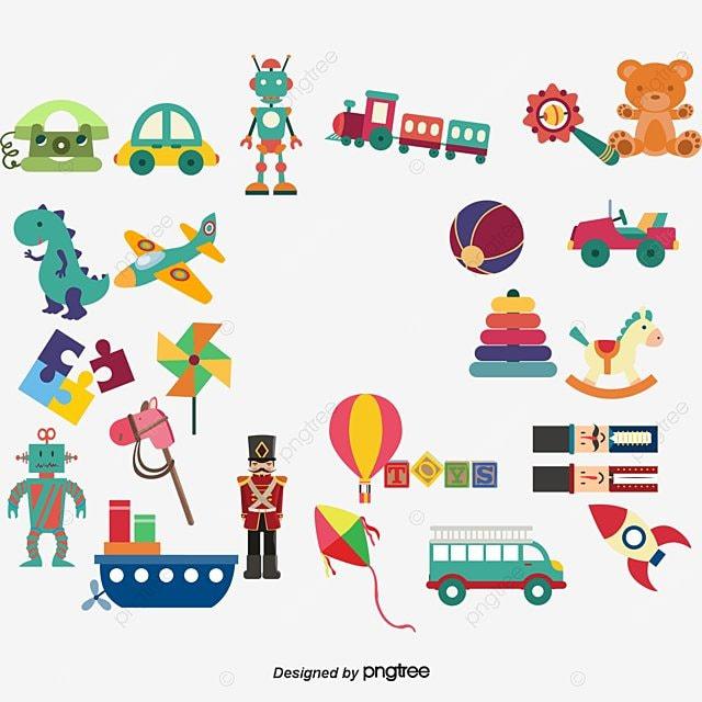 Varios Niños De Juguete De Dibujos Animados Vector, Varios Niños De ...