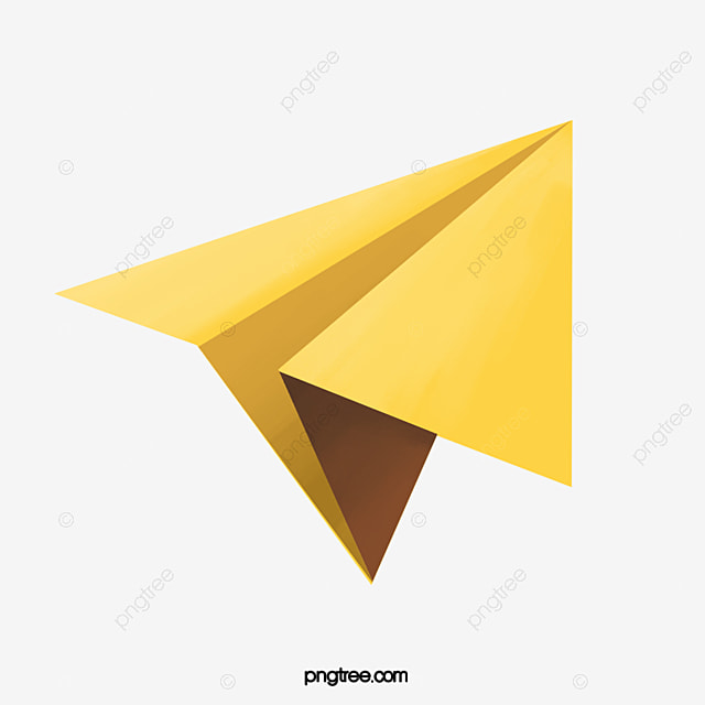 Yellow Gray Paper Plane, Yellowish Gray, Paper Plane
