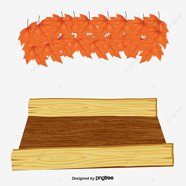 Wooden Stage Leaves Vector Material Wood Flooring