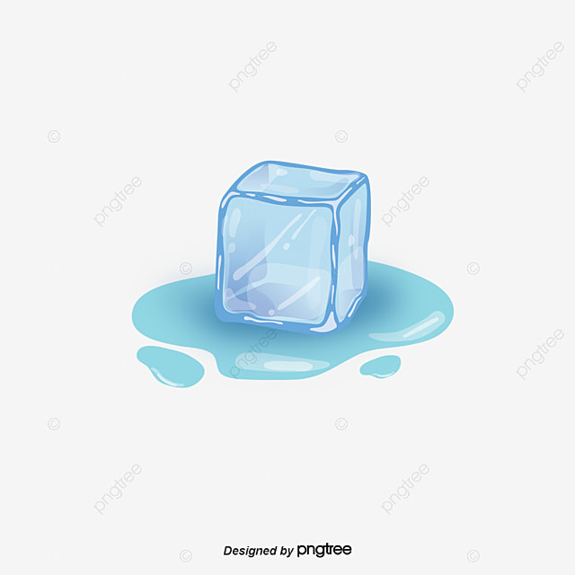 Cartoon Blue Ice Cubes, Cartoon, Blue, Ice Cubes PNG And