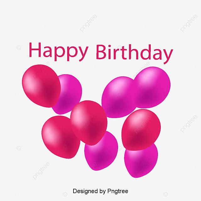 dream pink party balloon, Vector Material, Party Balloon ...
