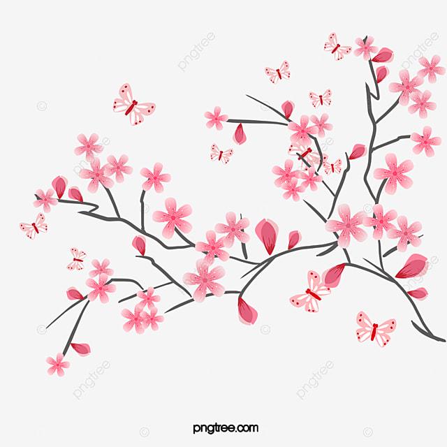 Dibujo Acuarela Pintada A Mano De Cereza Flores De Cerezo Cherry