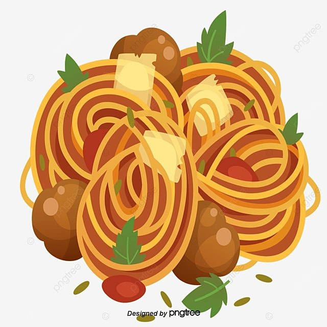 Delicious Pasta Delicious Spaghetti Cartoon Png And