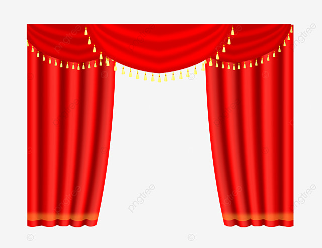 Phnom Penh Curtains Bright Red Curtain Pull Away PNG Image And Clipart